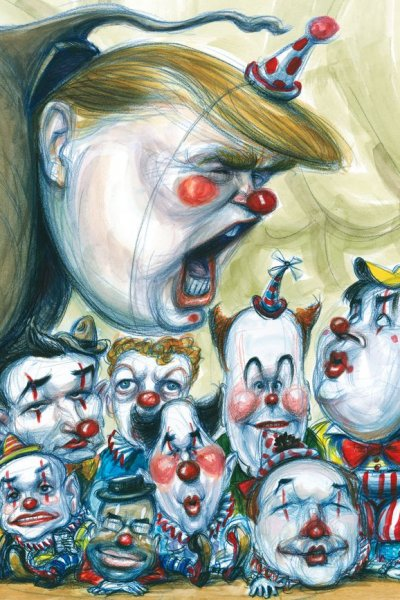Trump and clowns