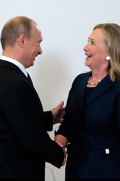 Putin and Clinton