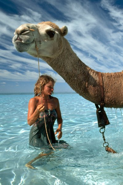 Robyn Davidson and Camel