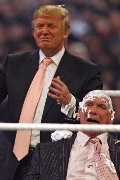 Donald Trump and McMahon