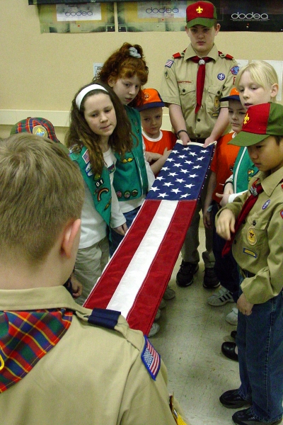 Boy Scouts, Girl Scouts and Cub Scouts