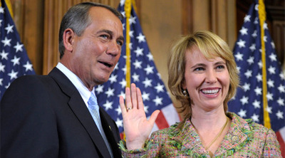 John Boehner and Gabrielle Giffords