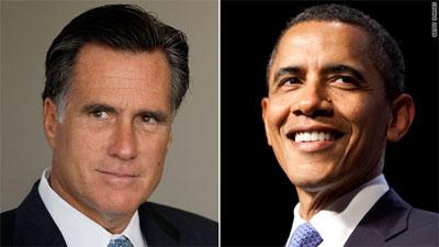 Obama and Romney
