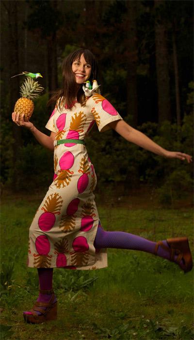 Vintage Pineapple Girl