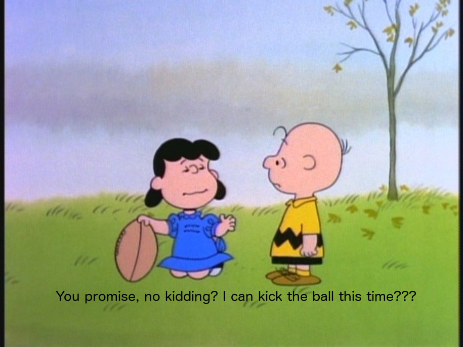 Let's Not Play Charlie Brown To Iran's Lucy