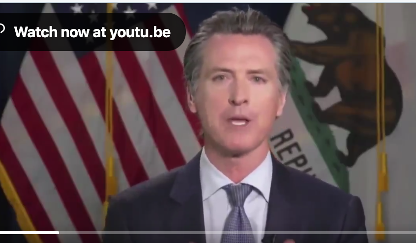 California Governor Newsom Issues Mandatory Mask Requirement For Everyone In Public Spaces