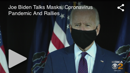 Joe Biden Would Use Power Of Federal Government To Force Americans To Wear Masks –  Priority #1 He Says