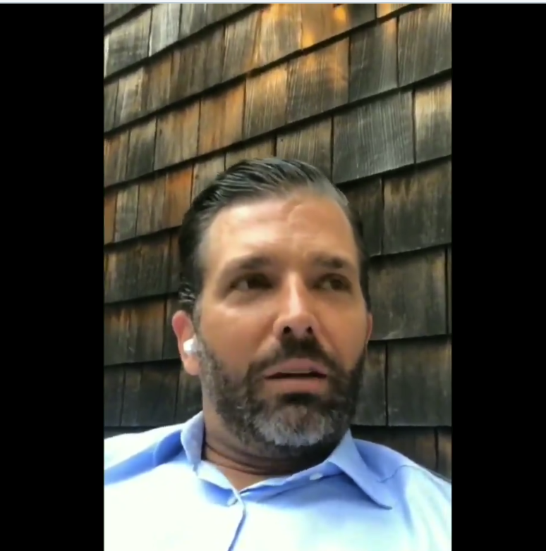 "Video:  ""Don Jr."" Takes To Instagram To Discuss His Twitter Ban"