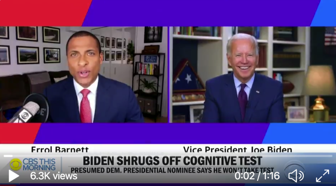 "Video: Joe Biden Says ""Why The Hell Would I Take A Test"""