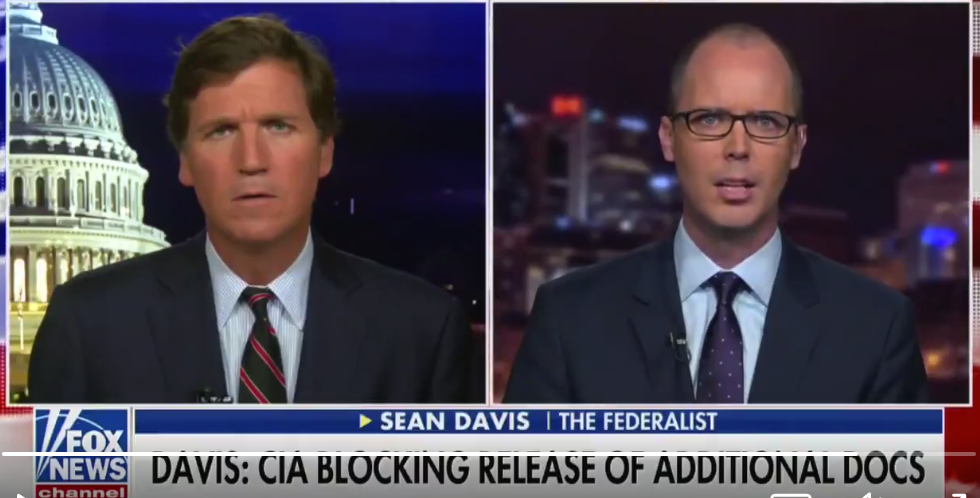 Federalist's Sean Davis Claims CIA Director Gina Haspel Blocking Release Of Spygate Documents